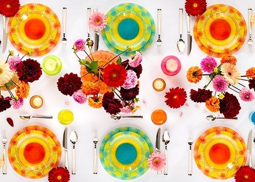 Come decorare la tua tavola: tramonto d'estate