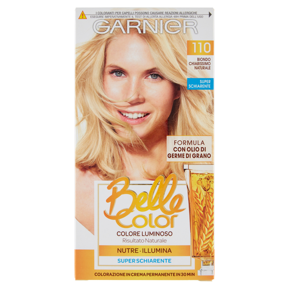 Garnier Belle Color Colore Luminoso Tinta Per Capelli Bianchi 110 Biondo Chiarissimo Naturale Carrefour