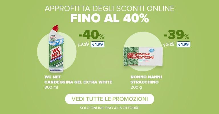 Promozioni sconti online fino al 40%