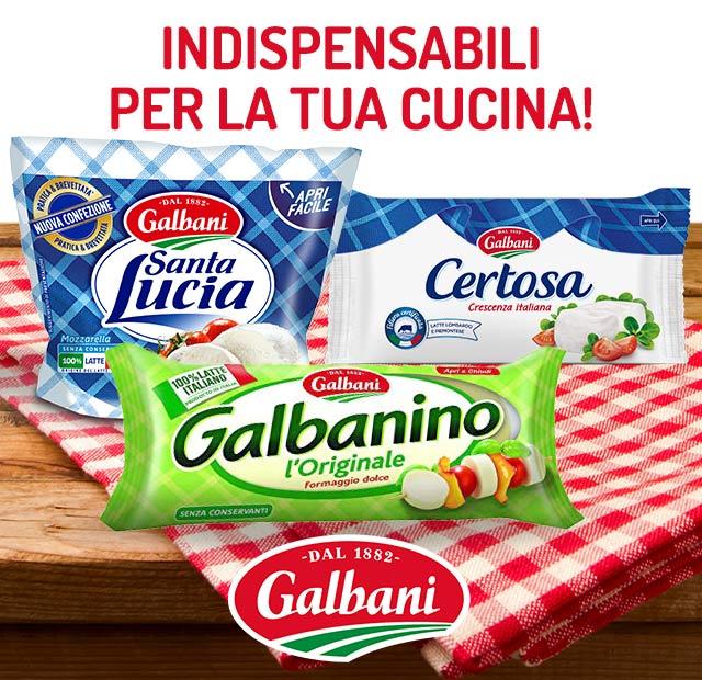 Prodotti Galbani e Vallelata - Cucina