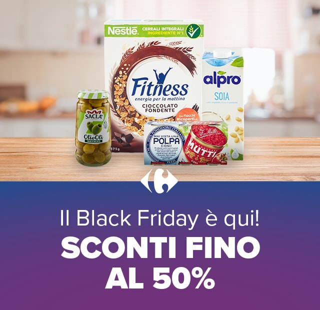 Il Black Friday è qui! SCONTI FINO AL 50%