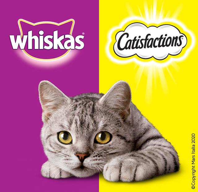 whiskas catisfactions gatto snack
